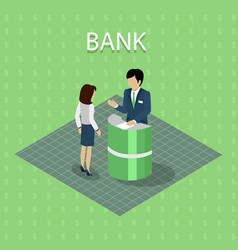 bank interior with consulting vector image