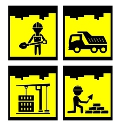 building concept icons vector image