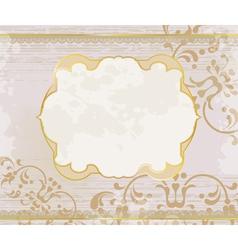 lucid gold frame background vector image vector image