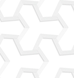 3D white abstract tetrapod striped grid vector