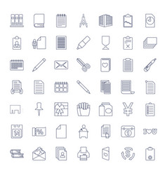 49 paper icons vector
