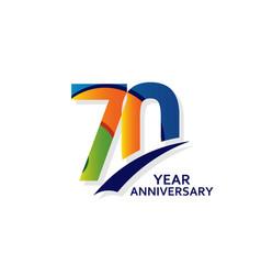 70 years elegant anniversary celebration template vector