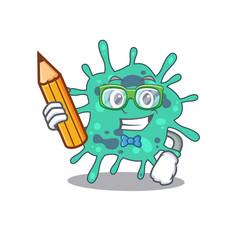 A brainy student shigella boydii cartoon vector