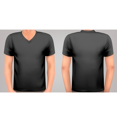 A male body with a black shirt on vector image