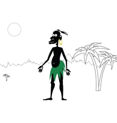 Aboriginal vector image