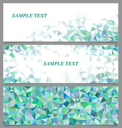 Abstract geometric banner template design set vector