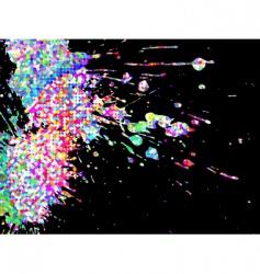Abstract splatter vector