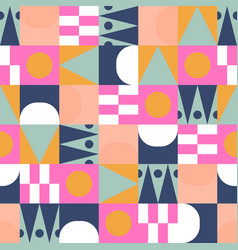 african bright color block seamless pattern vector image
