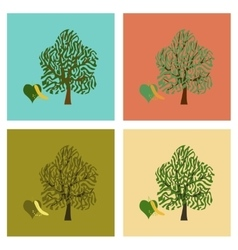 Assembly flat linden wood vector