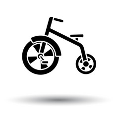 Baby trike ico vector