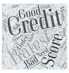 Bad credit score Word Cloud Concept vector