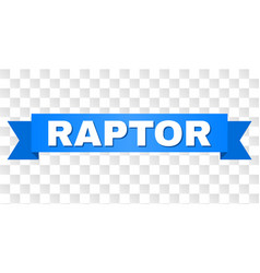 Blue stripe with raptor text vector
