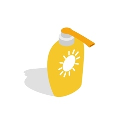 Bottle of suntan cream icon isometric 3d style vector image