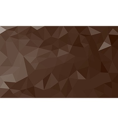 Brown polygon background vector