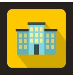 Building icon in flat style vector image