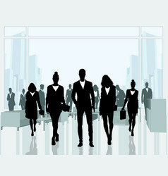 business people in the office vector image