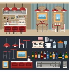 cafe interior barman coffee house vector image