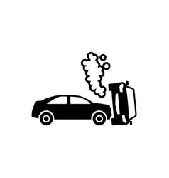 Car crash flat icon vector