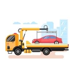 Car evacuator flat vector image