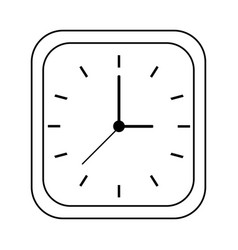 clock silhouette vector image