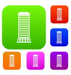 column set collection vector image