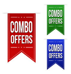 Combo offers banner design set vector