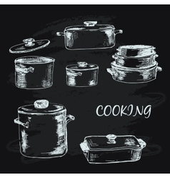 Cooking collection vector image vector image
