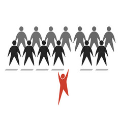 crowd abstract web personages vector image