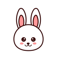 Cute bunny rabbit face modern vector