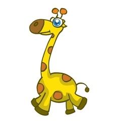 Cute giraffe cartoon walking design vector image