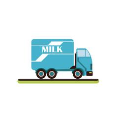 Dairy milk delivery service truck vector