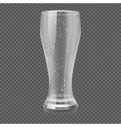 Empty beer glass cup isolated on transparent vector image