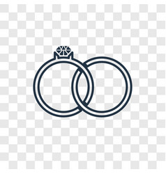 engagement ring concept linear icon isolated on vector image