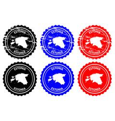 estonia rubber stamp vector image