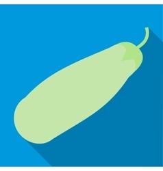 Fresh vegetable marrow icon flat style vector