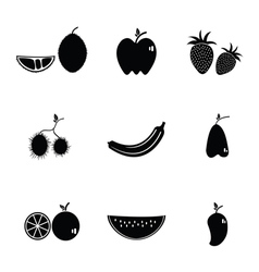 Fruit icon collection vector
