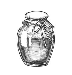 fruit or berry sweet jam glass bottle ink vector image