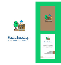 garden creative logo and business card vertical vector image