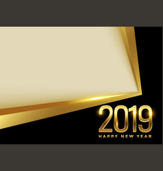 golden 2019 new year background with text space vector image