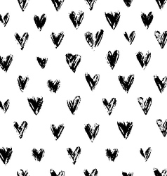 Grunge Hearts Ornament vector image