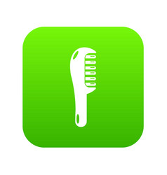 hairbrush style icon green vector image