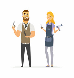 Hairdressers - cartoon people characters vector