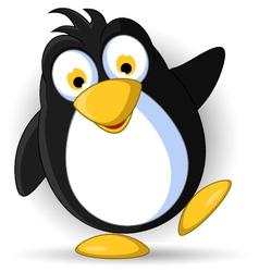 happy little penguin cartoon vector image