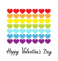 happy valentines day rainbow flag line icon heart vector image