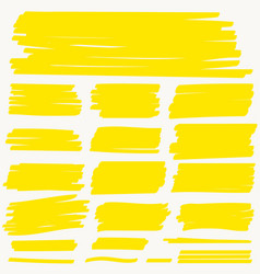 Highlight marker yellow line color stroke vector