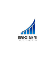 investment finance bar going up logo vector image