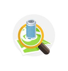 location icon search concept flat design vector image