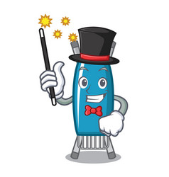 Magician iron board mascot cartoon vector