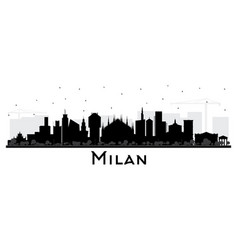 milan italy city skyline silhouette with color vector image