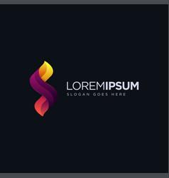 modern geometric letter s logo icon vector image